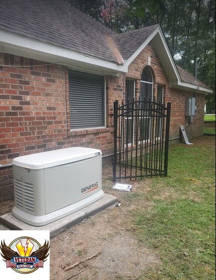 Generac backup generator installation for whole home